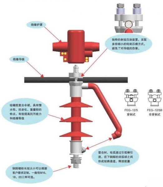 FEG-12/5型防雷支柱绝缘子(穿刺式/非穿刺式)